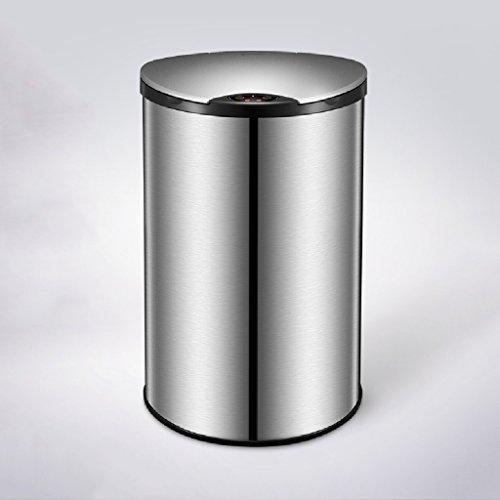 Acero inoxidable cubre con Smart Inducción Cubo de basura Home Fashion Cocina Salón Oficina, 12l