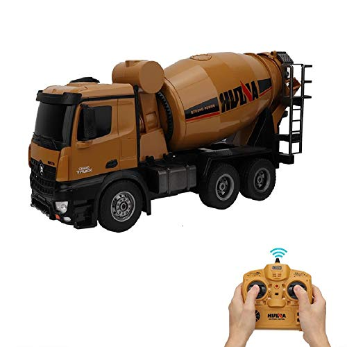 Qinlorgo Ferngesteuertes Auto, 1:14 10 kanäle Bagger rc simuliert Mixer LKW Spielzeug