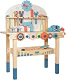 labebe Wooden Kids Workbench ,Kids Tool Set for Boys Age 3+,Kids Tool Bench Set for Toddlers,Childrens Pretend Role Play Toy,Boy's Birthday Gift