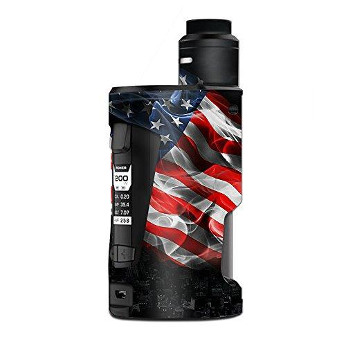Skin Decal Vinyl Wrap for Geekvape GBox Squonk Kit 200W Vape Kit skins stickers cover/American Flag waving