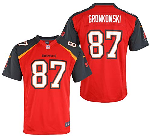 Nike NFL Boys Youth NFL Game Team Jersey Gronkowski ROB Tampa Bay Buccaneers Size BS8