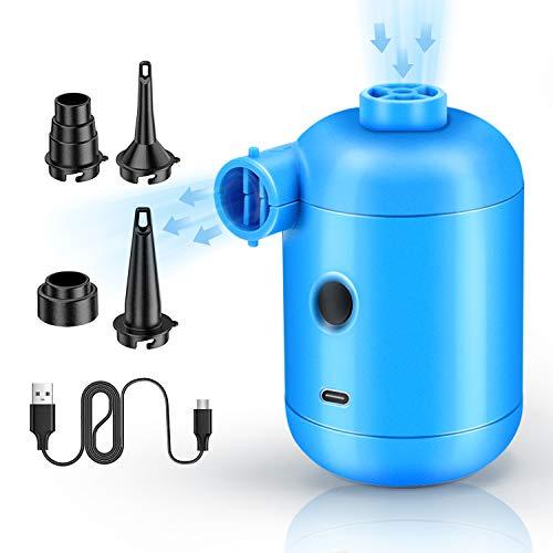 Lenski 2 in 1 Elektrische Luftpumpe Power Pump für Luftmatratze, Inflate und Deflate Luftpumpe Elektrisch pumpe mit 4 Luftdüse für Aufblasbare Matratze, Kissen, Bett, Boot, Schwimmring