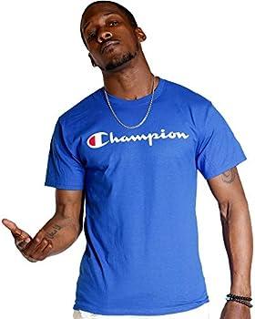 Champion Men s Classic Jersey Script T-Shirt Surf the Web2 X-Large