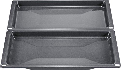 Bosch HEZ530000 - Accesorio para horno (2 sartenes universales estrechas), color gris