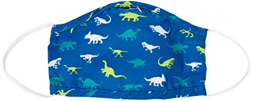 Hatley Kids' Double Layer Face Mask with Ear Elastic, Dinosaur Menagerie, One Size