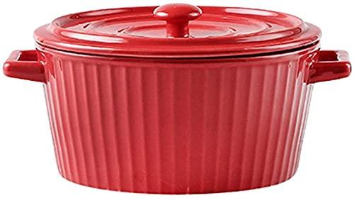 PFTHDE Cuenco de Ensalada de cerámica, Cuenco de Fruta cocido al Horno del Cuenco de arroz con Cuenco del Postre del Cuenco de los tallarines instantáneos de la Tapa