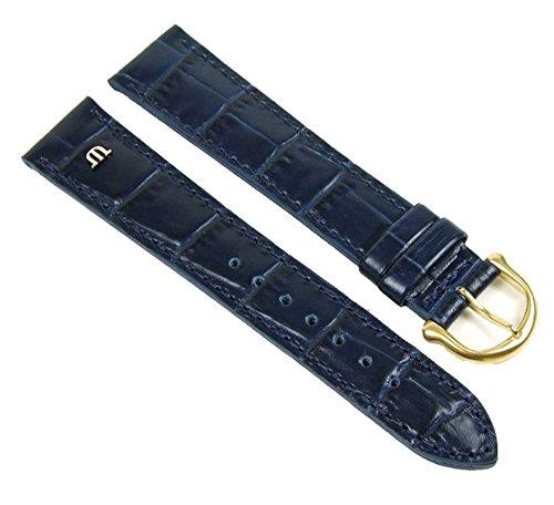 Maurice Lacroix Louisiana Optik Uhrenarmband Kalbsleder Blau 21070G, Stegbreite:15mm