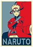Tainsi Naruto Propaganda Naruto Uzumaki Poster-11 x 17 pulgadas, 28 x 43 cm