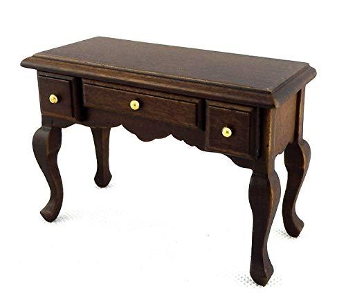 Melody Jane Puppenhaus Eiche Dunkel Schreibtisch Sekretär Tisch Miniatur 1/12 Study Möbel