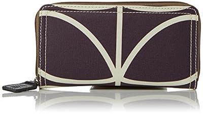 Orla Kiely Matt Laminated Linear Stem Print Big Zip Wallet Wallet