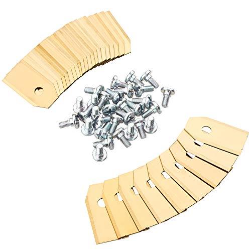 Lot de 30 Inoxydable Titane lames de rechange pour robot tondeuse tous Husqvarna Automower et Gardena 75 mm d'épaisseur + 30 Vis - pour 105, 310, 315, 320, 420, 430 x, r40i