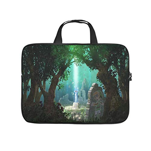 Legend of Zelda A Link between Worlds Laptoptasche Muster Laptoptasche Tasche Tasche Weich Antistatisch Laptop Handtasche mit Tragbarem Griff für Damen Herren Weiß 10 Zoll
