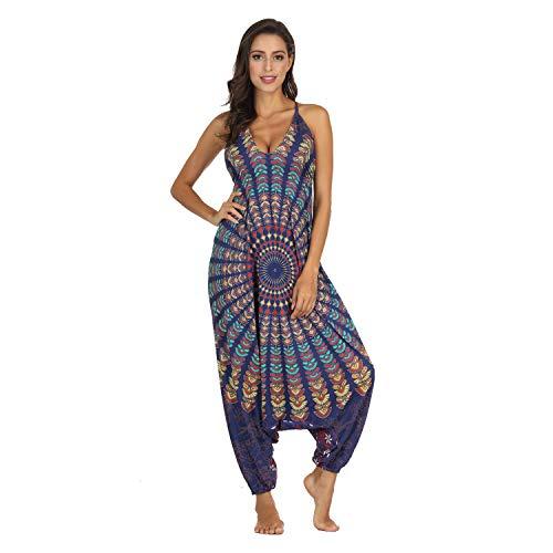 Damen Jumpsuit Overall Overall Harem Oversize ärmellos Jumpsuit Playsuit Kleid Sommer Gr. One size, Stil 001
