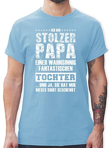 Vatertagsgeschenk - Stolzer Papa Fantastischen Tochter - XXL - Hellblau - t-Shirt Papa und Tochter - L190 - Tshirt Herren und Männer T-Shirts
