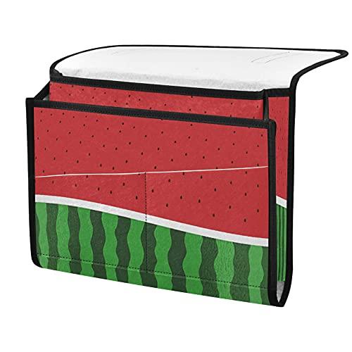 Organizador de almacenamiento para mesita de noche, sandía tropical, junto a la caja, organizador de almacenamiento para mandos a distancia gafas de teléfono