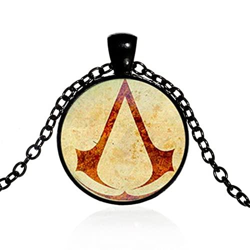 KDFJ Steampunk - Collar con colgante de cúpula de cristal con cadena negra gótica