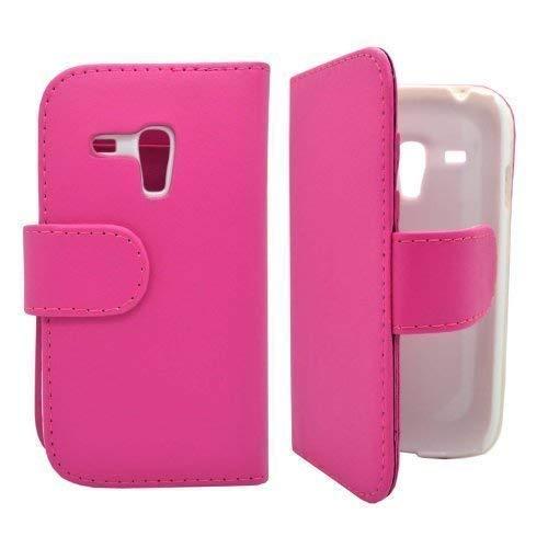 GADGET BOXX Uni BOOK CASE FLIP Tasche IN PINK mit Displayschutzfolie Druck für SAMSUNG GALAXY S3 MINI i8190