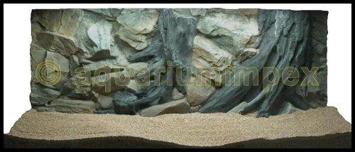 3D Aquarienrückwand 120x60 Root