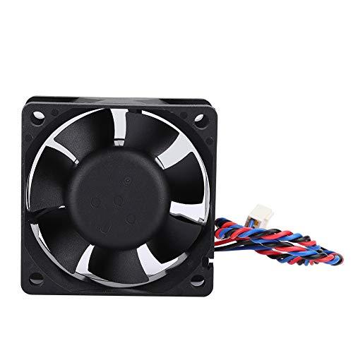 Dpofirs Ventilador de refrigeración para computadora 6CM / 2.4in 12V 0.48A 6800RPM, Caja de PC de Bobina de Cobre Puro, Enfriador de disipador térmico para Fuente de alimentación