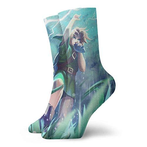 JONINOT Die Legende von Zelda Socken Crew Comfort Casual Sports Teens Anime Knöchel Kleinkind Gemütlich W8.5CM x L30CM