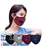 PENATE 4pc Unisex Anti Smoke Dust Másk Air Purifying PM2.5 Carbon Filter Face Scarf Washable Reuse Face Mouth Cloth