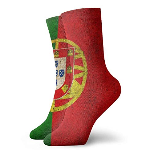 2020 Christmas Ornaments Men's And Women Socks- Portugal Flag Colorful Funny Novelty Crew Socks 30 cm
