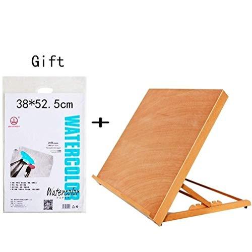 ZXnrz Maytty lang Artist Easel, Houten Vouwen Eenvoudige Tekening Display Tentoonstelling voor Tekening Schilderij Houder Board Plank -622 (Kleur : D)