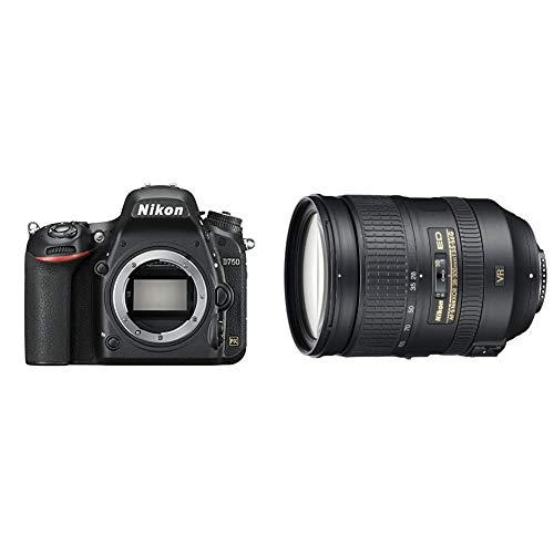 Nikon D750 SLR-Digitalkamera (24,3 Megapixel, 8,1 cm (3,2 Zoll) Display, HDMI, USB 2.0) & AF-S 28-300 mm 1:3.5-5.6G ED VR Reisezoom-Objektiv inkl. HB-50 (77mm Filtergewinde, bildstabilisiert) Schwarz