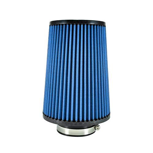 Universal - Filtro de Aire Deportivo (240 mm/76 mm), Color Azul