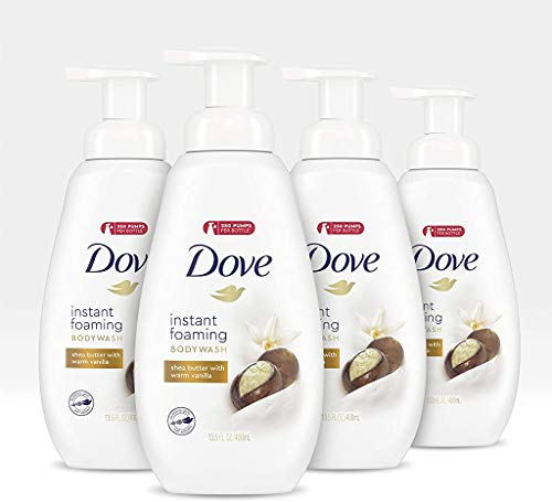 Dove Purely Pampering Body Wash with NutriumMoisture Technology Shea Butter and Vanilla Paraben Free Bodywash 13.5 oz 4 Count