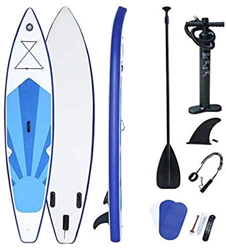 XIGG Tabla Hinchable de Paddle Surf, Tabla de Sup Board Stand Up con Inflador/Remo/Mochila/Fin, 150kg Load Capacity, 320x76x15cm