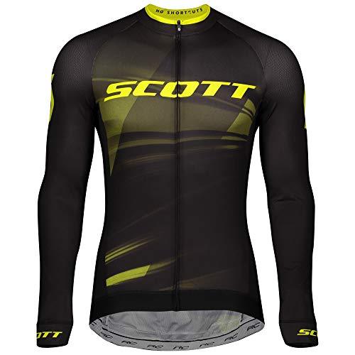 Scott RC Pro Fahrrad Trikot lang schwarz/gelb 2020: Größe: M (48/50)