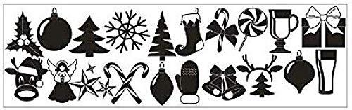 Kerstmis Handschoenen Sokken Koe Sneeuwvlok Geschenkdoos Kinderen Kamer Muursticker Mural Kerstmis Vakantie Decoratie PVC Art Wallpaper Maat: 30cmX100CMX1PCSChristmas Home Decor