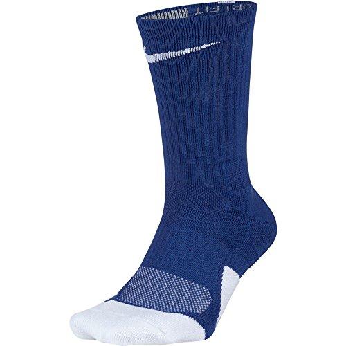 NIKE Unisex Dry Elite 1.5 Crew Basketball Socks (1 Pair), Game Royal/White/White, Large