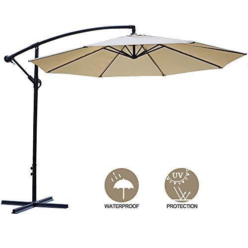 SUPER DEAL 10FT Cantilever Offset Patio Umbrella -...