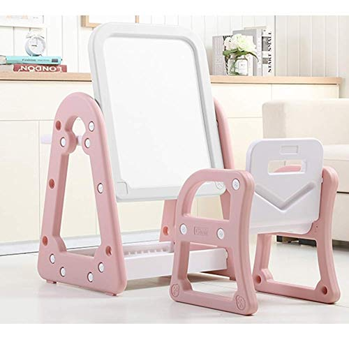 SCDZZ Caballete de Pintura de Pizarra magnética for niños pequeños y niños pequeños Se Puede convertir en un Escritorio y una Mesa de Comedor (Color : Pink)