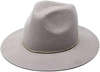 CHENDX Hat Ladies Autumn and Winter Woolen Hat Metal Ring Jazz Hat (Color : Grey)