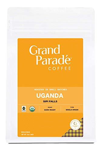 Organic Uganda Coffee, Blue Mountain Blend, Dark Roast, Whole Bean, Fresh Roasted, Gourmet Single Origin, Arabica Coffee, 12-ounce (Whole Bean)