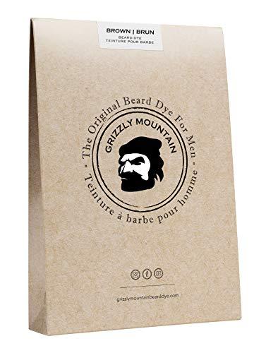 Grizzly Mountain Beard Dye - Organic & Natural Brown Beard Dye