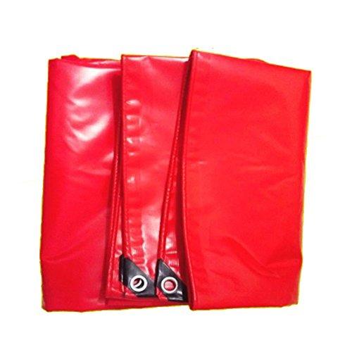 Dongyd Tissu imperméable extérieur 550g / carré d'ombre de Camion de Protection Solaire de Tissu de PVC de bâche 0.42mm (Couleur : Red, Taille : 5 * 6m)
