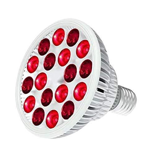 Dispositivo De Terapia De Luz Roja, 54W 660Nm Y 850Nm 18 Leds Terapia De Luz LED Infrarroja Cercana, Bombilla De Luz Roja De Alta Irradiancia para La Salud De La Piel Y El Alivio del Dolor