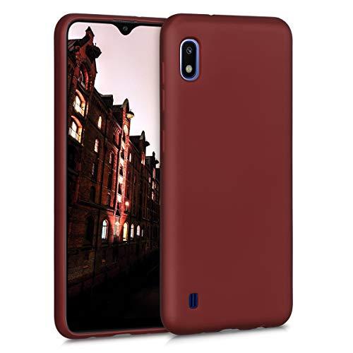 kwmobile Hülle kompatibel mit Samsung Galaxy A10 - Handy Case Metallic Rubinrot