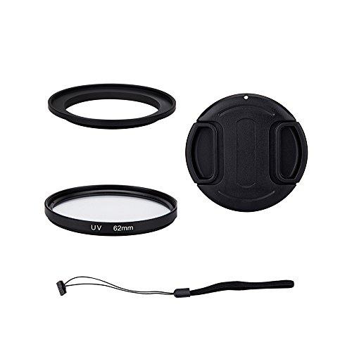 'Profoto. Tendencia/Kiwifotos-Kit de lentes para Nikon Coolpix B700, P600, P610, P610s cámara Digital-incluye adaptador de filtro de 62mm, filtro UV, tapa de objetivo y tapa Keeper