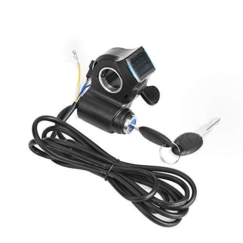 NCONCO E-Bike Daumen Gas LCD-Display Digitale Batteriespannung Netzschalter für Elektrofahrzeuge