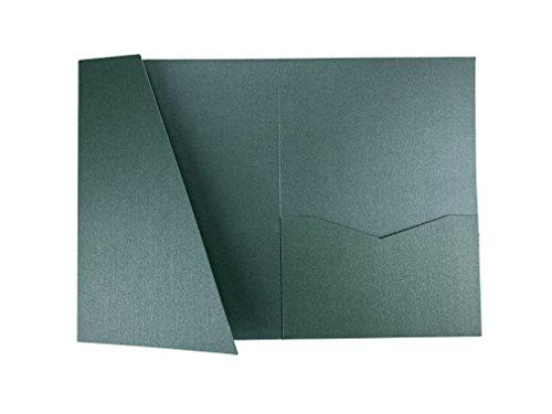 Lagoon A7.5 Card Cover Tri-fold Pocket Invitations for Weddings, Birthdays, Greeting Cards - 25 pcs