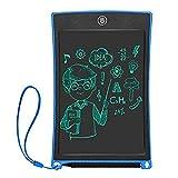 BYSP Tableta de Escritura LCD de 8.5 Pulgadas, Tableta de Escritura electrónica Tableta de Dibujo, Bloqueo de Memoria 1 tecla, para Office Home School Handwriting Notebook (Azul)