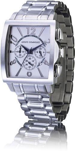 Adolfo Dominguez Ref. 66000 - Reloj de Caballero de Cuarzo con cronómetro, Cadena en Acero.