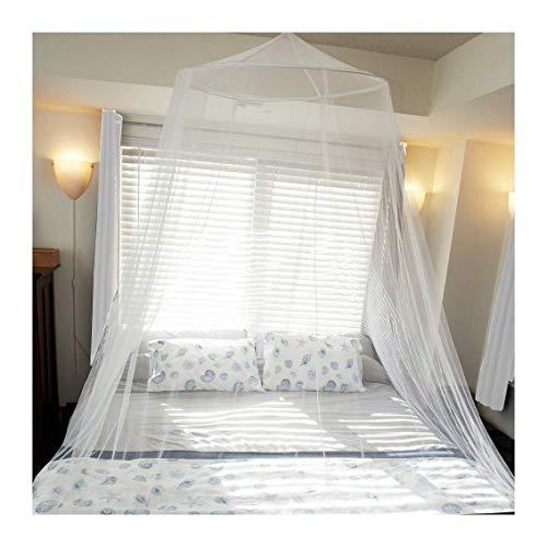 AIFUSI Moskitonetz für Einzel- bis King-Size-Schlafzimmer durch schnelle und einfache Installation System Schutz für jeden Outdoor- und Indoor-Derocat-Liebhaber