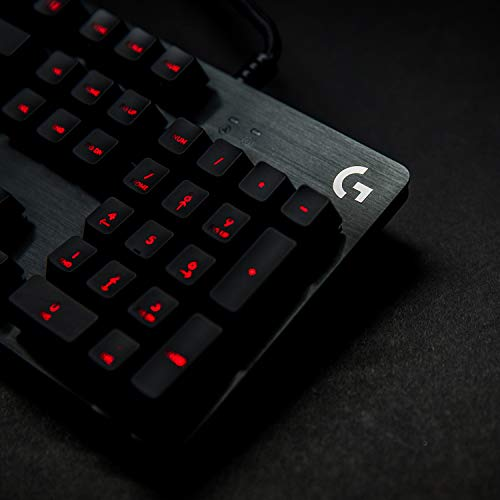 Product Image 1: Logitech G413 Backlit Mechanical Gaming Keyboard with USB Passthrough – Carbon