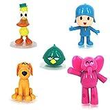 EASTVAPS Juguete 5pcs / Set Cartoon Pocoyo ZInkia Doll PVC Figuras de acción Juguete para niños Regalo de cumpleaños